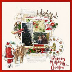 Christmas Scrapbook Page with slide reel