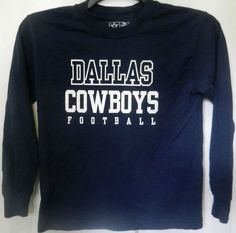 Dallas Cowboys Navy Blue Long Sleeve T-Shirt Adult Size Small In Excellent  Shape   f72aa3383