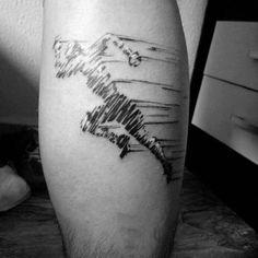 Creative Running Fitness Mens Leg Calf Tattoos