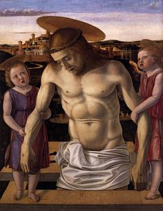 Giovanni Bellini - Pieta, Dead Christ Supported by Two Angels. 1460