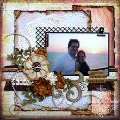 """Layout using ScrapThat! June """"From Sunrise to Sunset"""" Kit by Amarilys Doria"""