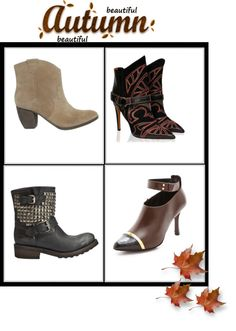 """""""fall booties.."""" by myfashionheart ❤ liked on Polyvore"""