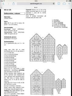 Bilderesultat for enkel oppskrift selbuvotter Knitted Mittens Pattern, Knit Mittens, Mitten Gloves, Knitting Patterns, Knitting Ideas, Norwegian Knitting, Pixel Pattern, Drops Design, Stuff To Do