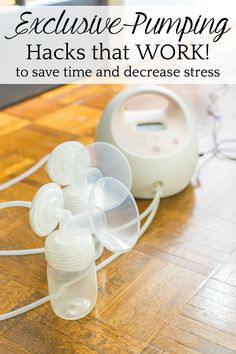 Exclusive Pumping Hacks That Work | A list of the best exclusive pumping tricks, tools, and resources to decrease stress, save time, and set you on track for a successful breastfeeding journey. #breastfeeding #newborns