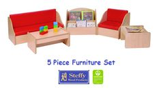 Steffy Furniture Set - 5 Piece | Honor Roll Childcare Supply - Early Education Furniture, Equipment and School Supplies Classroom Carpets, Preschool Supplies, Honor Roll, Early Education, Cot, Childcare, End Tables, Cribs, Lockers
