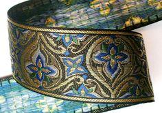 Fabulous Renaissance Style Woven Jacquard  2 3/8 x by LesBonRibbon