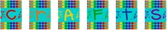 Rainbow-colored Art Party banners and tags made from a deck of cards. HM Template Id: 77924