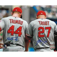 MLBPAA Los Angeles Angels of Anaheim Mike Trout and Mark Trumbo Autographed Photo - MLB.com Shop