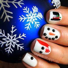 christmas by peacehappnails #nail #nails #nailart