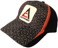 New Allis Chalmers Logo Hat with Diamond Plate and Orange Accents