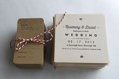 We just love the simplicity of this: Letterpress Wedding Invitations