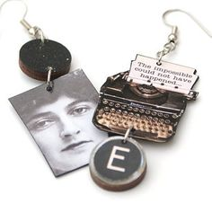 Murder on the Orient Express earrings (£16). | 35 Impossibly Clever Pieces Of Jewelry Inspired By Books