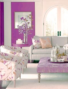 Bright Color Palette -  COLOUR 4 2014 'ORCHID' + SHADES/HUES OF IN INTERIOR DESIGN/ HAIR+MAKE-UP/NAILS/FURNITURE/DECOR + MORE...  <3<3<3FAVE COLOUR!