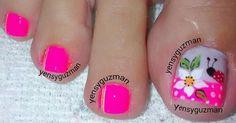 Super Cute Ideas for Summer Nail Art - Nailschick Toenail Art Designs, Pedicure Designs, Pedicure Nail Art, Toe Nail Art, Manicure, Creative Nail Designs, Colorful Nail Designs, Creative Nails, Cute Toe Nails