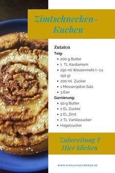 Zimtschnecken sind super lecker, manchmal aber auch ziemlich aufwendig. Mit diesem Kuchen bekommst Du den Geschmack einer schwedischen Zimtschnecke, aber die Zubereitung geht viel schneller. Dieser Kuchen aus Schweden ist eine Art Kladdkaka, der ein etwas weicheres Innere hat.#einfachschweden #zimtschnecke #kanelbulle #kladdkaka Fika, Super, French Toast, Breakfast, Cinnamon Roll Cakes, Swedish Recipes, Morning Coffee, Morning Breakfast