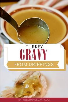 Turkey gravy from drippings. With just a few simple ingredients you can make a delicious turkey gravy from scratch. No gravy mix or jars required. Just turkey drippings flour (regular or gluten free) stock and salt/pepper. Turkey Gravy Without Drippings, Best Turkey Gravy, Making Turkey Gravy, Best Gravy Recipe, Homemade Gravy Recipe, Homemade Turkey Gravy, White Sausage, Homemade Brown Gravy, Gravy From Scratch