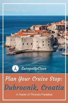 Best Things To Do in Dubrovnik - Games of Thrones - Dubrovnik Sights Europe Destinations, Europe Travel Tips, Travel Plan, Travel Advice, Cruise Travel, Cruise Vacation, Game Of Thrones Dubrovnik, Croatia Travel Guide, Plitvice Lakes National Park
