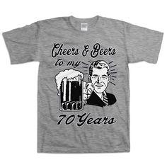 Retro Guy 70th Birthday Shirt Gift For Seventy by BirthdayThreads