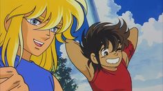 Hyoga and Seiya. This is cute!