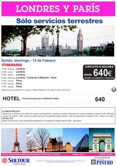 Londres y París - Sólo Servicios Terrestres - Paquete 6 Noches desde 640€ - Salida 15 Febrero ultimo minuto - http://zocotours.com/londres-y-paris-solo-servicios-terrestres-paquete-6-noches-desde-640e-salida-15-febrero-ultimo-minuto/
