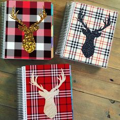 New holiday planner covers are up!! Glitter and plaid!!