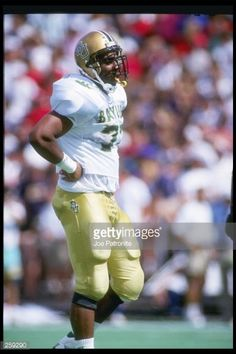 2bb1a96cbe3 Defensive end Santana Dotson of the Baylor Bears stands on the field during  a game against