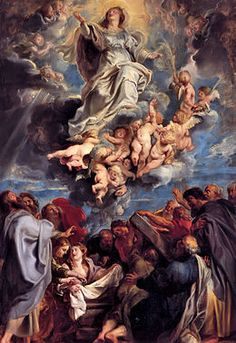 Peter Paul Rubens - Assumption of the Devine and Holy Virgin Mary, 1611 Baroque