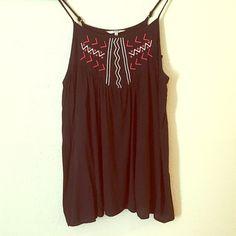 FINAL PEICE BB Dakota Aztec embroidery Mini Dress Adjustable straps BB Dakota Dresses Mini