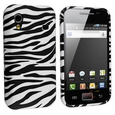 TPU Rubber Skin Case Compatible with Samsung Galaxy Ace S5830, Black / White Zebra