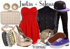 Disney Bound - Justin + Selena