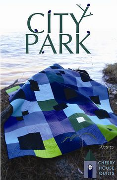 Cherry House Quilts City Park - Nice Use of Solids House Quilts, Baby Quilts, Crib Quilts, Scrappy Quilts, Traditional Quilt Patterns, Contemporary Quilts, Quilt Modern, Modern Quilting, Man Quilt