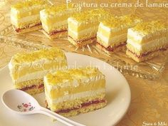 Prajitura cu crema de lamaie Sweets Recipes, My Recipes, Desserts, Lemon Cream, Cheesecakes, Vanilla Cake, Food And Drink, Gem, Paste