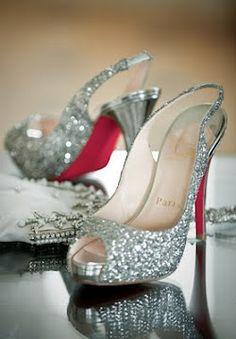 Christian Louboutin diamond sparkle peeptoe slingbacks