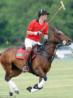 Prince William plays for 'Team Umbogo' in the Dorchester Polo Trophy polo match at Cirencester Park Polo Club on June 6, 2010 in Cirencester, England