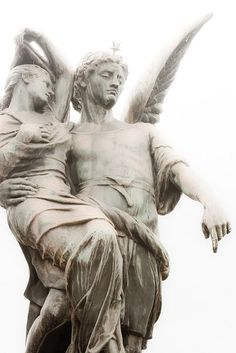 Statue on Cemetery Recoleta by carola_vanlimborgh, via Flickr