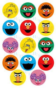 Sesame Street  Favor Tags or Cupcake Toppers by lovebandpdesigns, $8.00