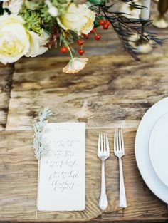 Oregon Wedding Inspiration from Perry Vaile Photography | Calligraphy & Paper Goods by Brown Linen Design