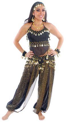 4dfa27bca HAREM GENIE BELLY DANCER COSTUME W  COINS (PURPLE) - Item  4798 on ...