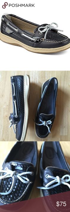 Sperry Top-Sider Women's Angelfish woven boat shoe NEW! Loafer Flats, Loafers, Angelfish, Sperry Shoes, Sperry Top Sider, Sperrys, Boat Shoes, Things To Sell, Black