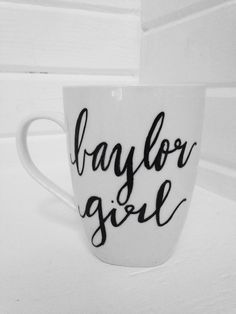 """Baylor girl"" mug // Cute! And a great present for a Bear."