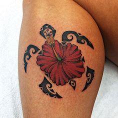 Hibiscus flower tattoos Hawaiian tattoo and Tattoo designs on . Hawaiian Tattoo Meanings, Hawaiian Turtle Tattoos, Flower Tattoo Meanings, Tattoo Designs And Meanings, Tattoo Hd, Guam Tattoo, Tattoo Fleur, Turtle Tattoo Designs, Polynesian Tattoo Designs