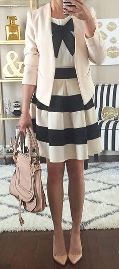 Stripes & blush