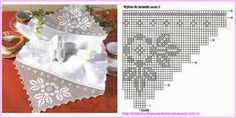 Resultado de imagem para barrado de croche com canto para toalha de mesa
