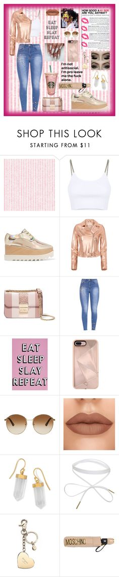 """""""Eat Sleep Slay Repeat"""" by niaawesomeee ❤ liked on Polyvore featuring Alexander Wang, STELLA McCARTNEY, IRO, MICHAEL Michael Kors, Missguided, Rebecca Minkoff, Gucci, BillyTheTree, Aspinal of London and Moschino"""