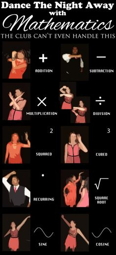 Dance like a mathematician! That's about how my mathematician hubby dances, hahaha!!!