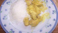 Riz à la crème et dinde au curry