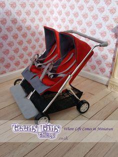Miniature twin pram - Miniature twin stroller