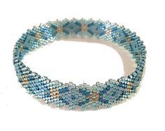 """Bracelet anneau bleu ciel et turquoise clair - Collection """"So Chic"""""""