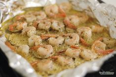 Lemon Butter Shrimp With Dried Italian Seasoning (Baked in Oven)