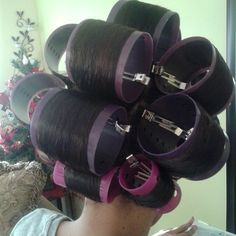 Big Hair Rollers, Sleep In Hair Rollers, Wet Set, Perm Rods, Updo Styles, Bobe, Hair Setting, Roller Set, Natural Hair Journey
